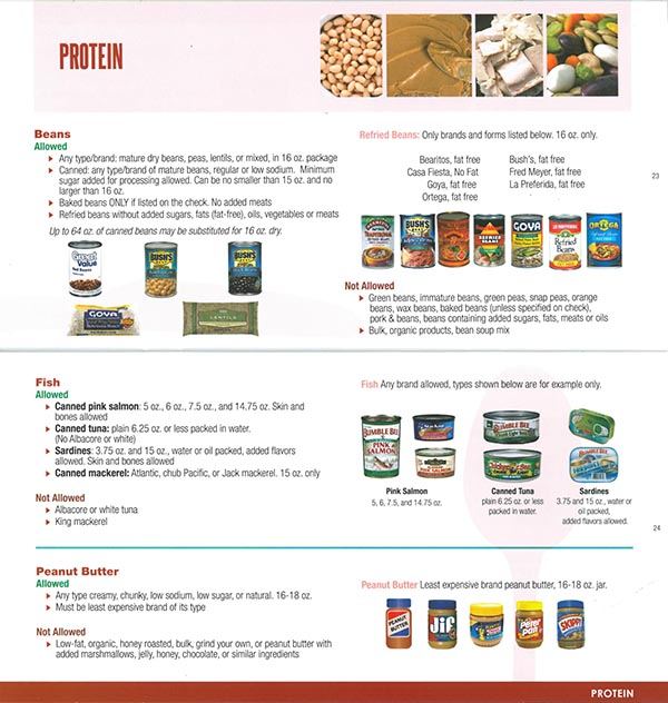 Alaska WIC Food List Protein
