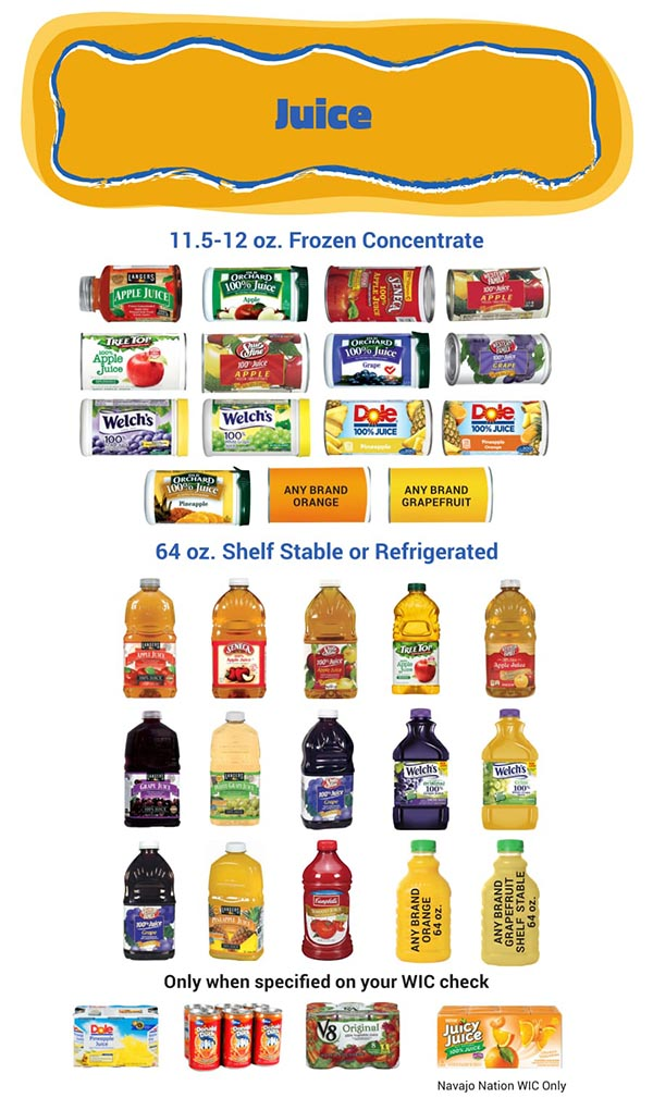 Arizona WIC Food List Juice