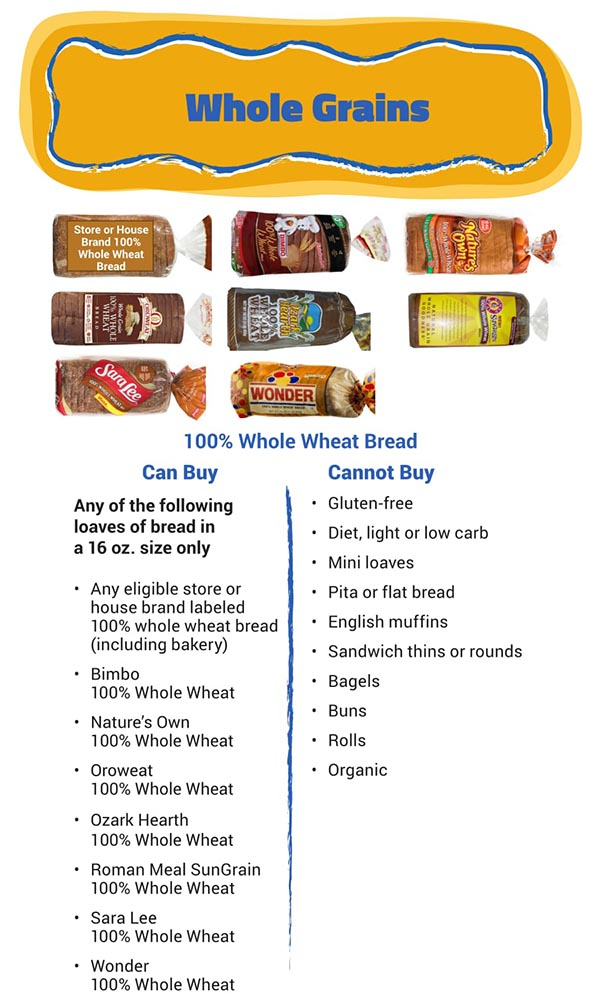 Arizona WIC Food List Whole Grains