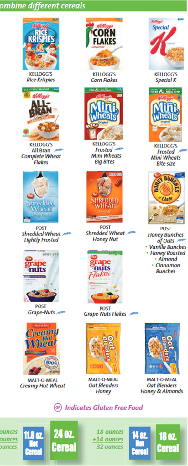 Maryland WIC Food List Other Cereal and Gluten Free Cereal