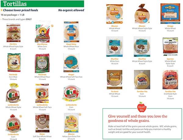 WIC Authorized Food List - CDPH Home