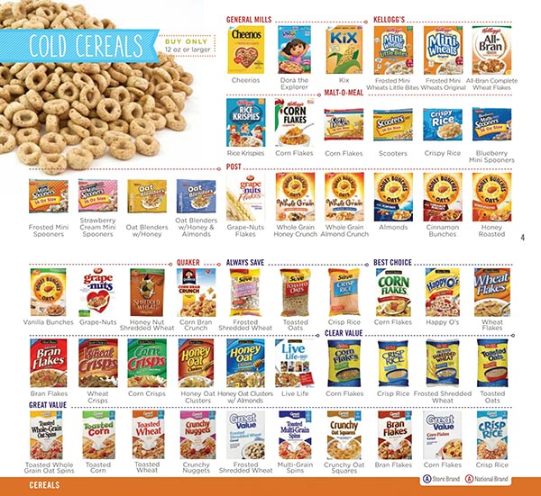 Nebraska WIC Food List Cold Cereals