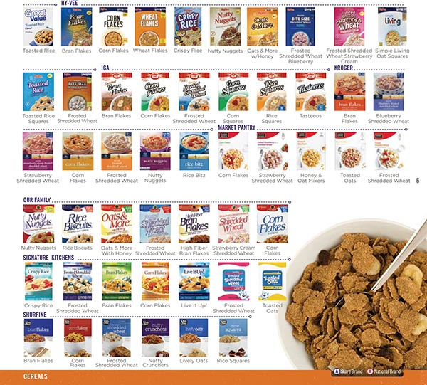 Nebraska WIC Food List Cereal Brands