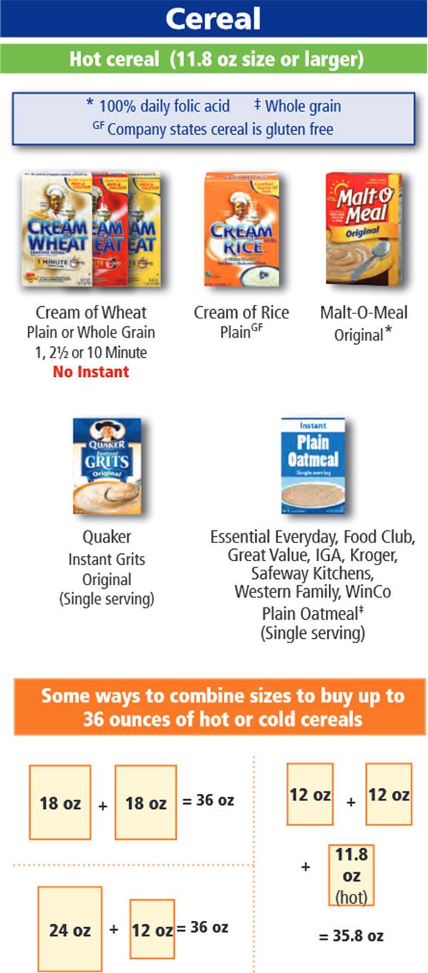 Oregon Wic Food List