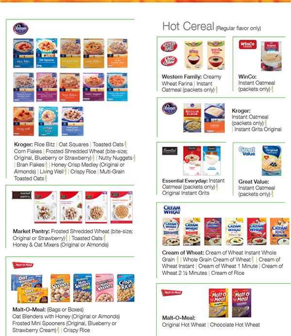 Utah WIC Food List