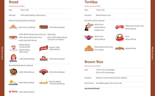 Vermont WIC Food List Bread, Tortillas and Brown Rice