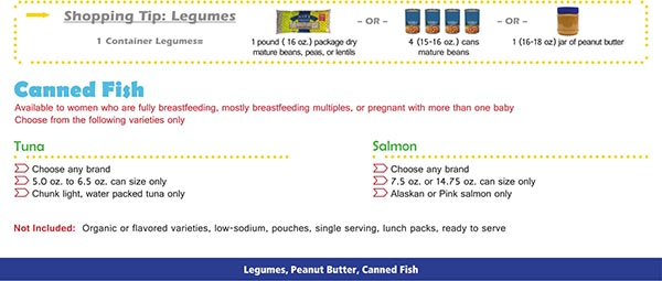 Virginia WIC Food List Canned Fish, Tuna and Salmon