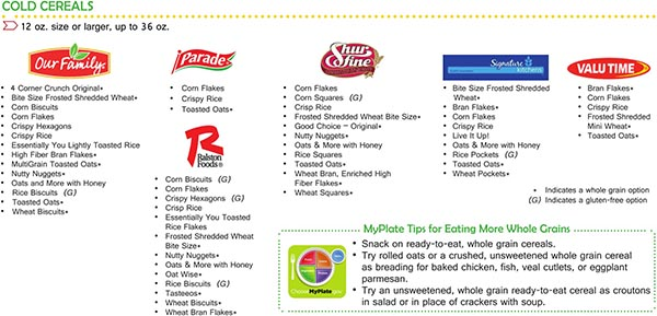 Virginia WIC Food List Cold Cereals Product List Page 2