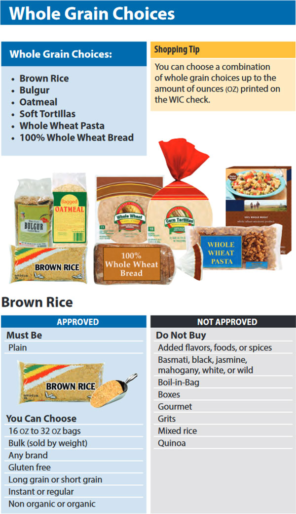 Washington WIC Food List